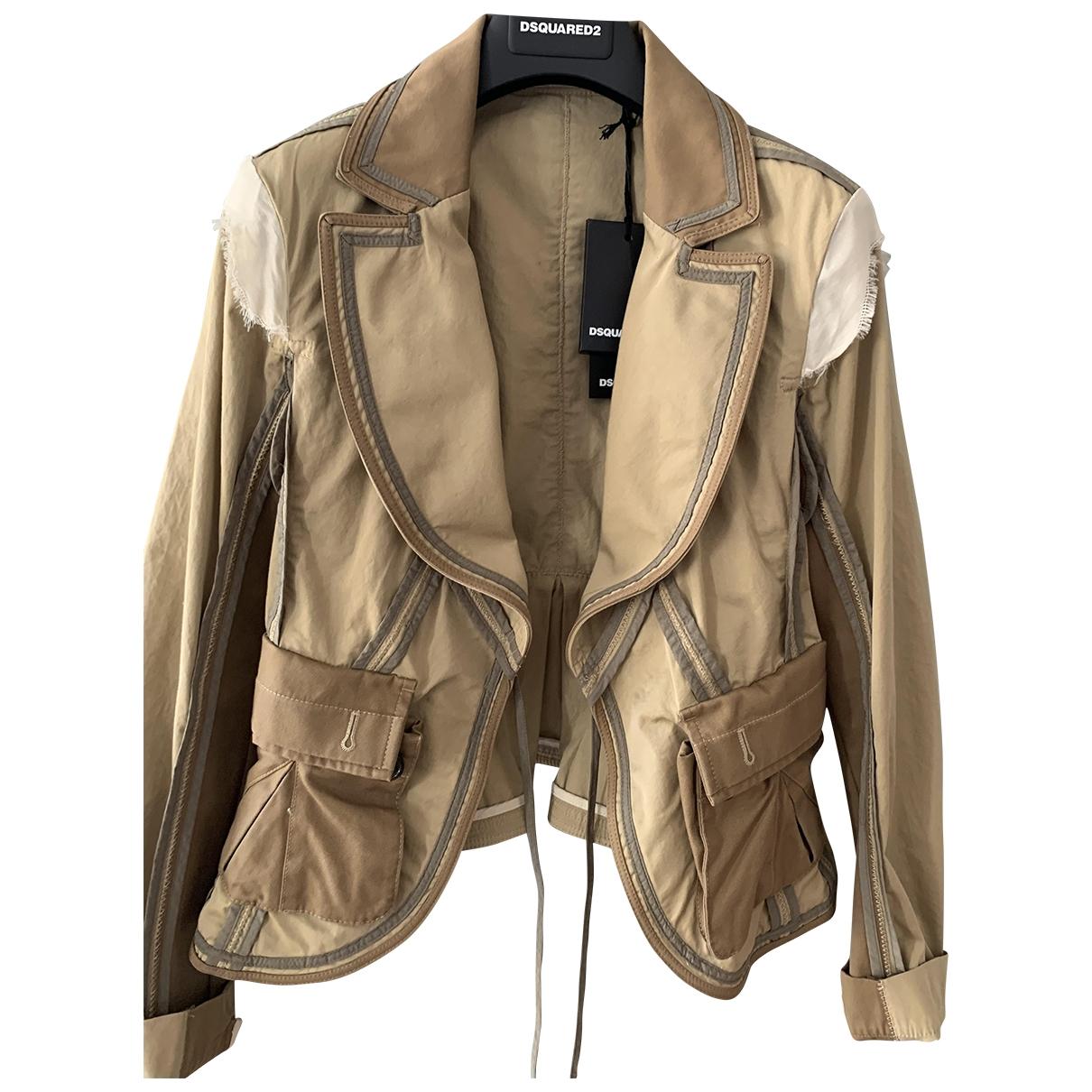 Dsquared2 \N Beige Cotton jacket for Women 40 IT