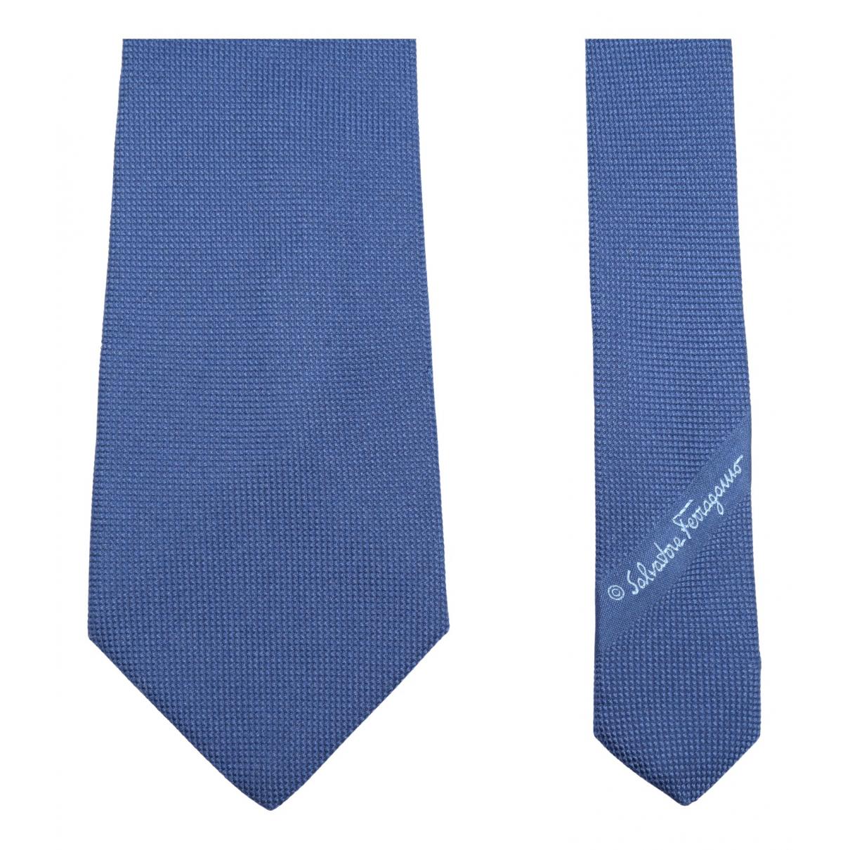 Salvatore Ferragamo N Blue Silk Ties for Men N