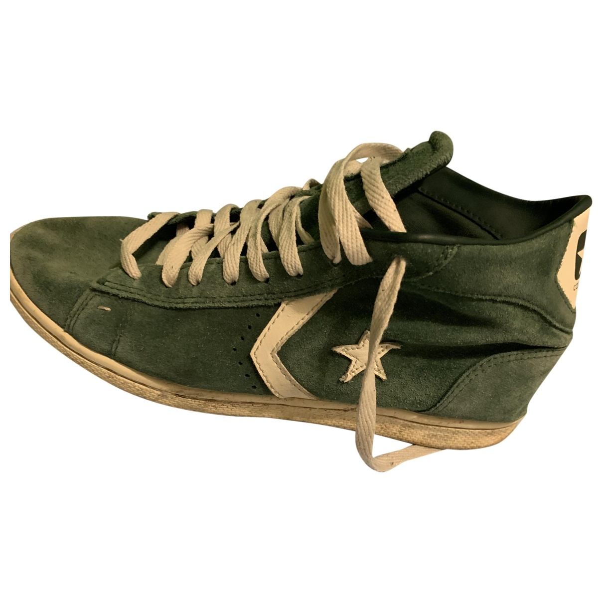 Converse \N Green Suede Trainers for Men 42 EU