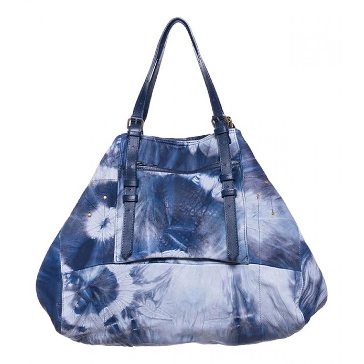 Jerome Dreyfuss Pat Handtasche in  Blau Leder