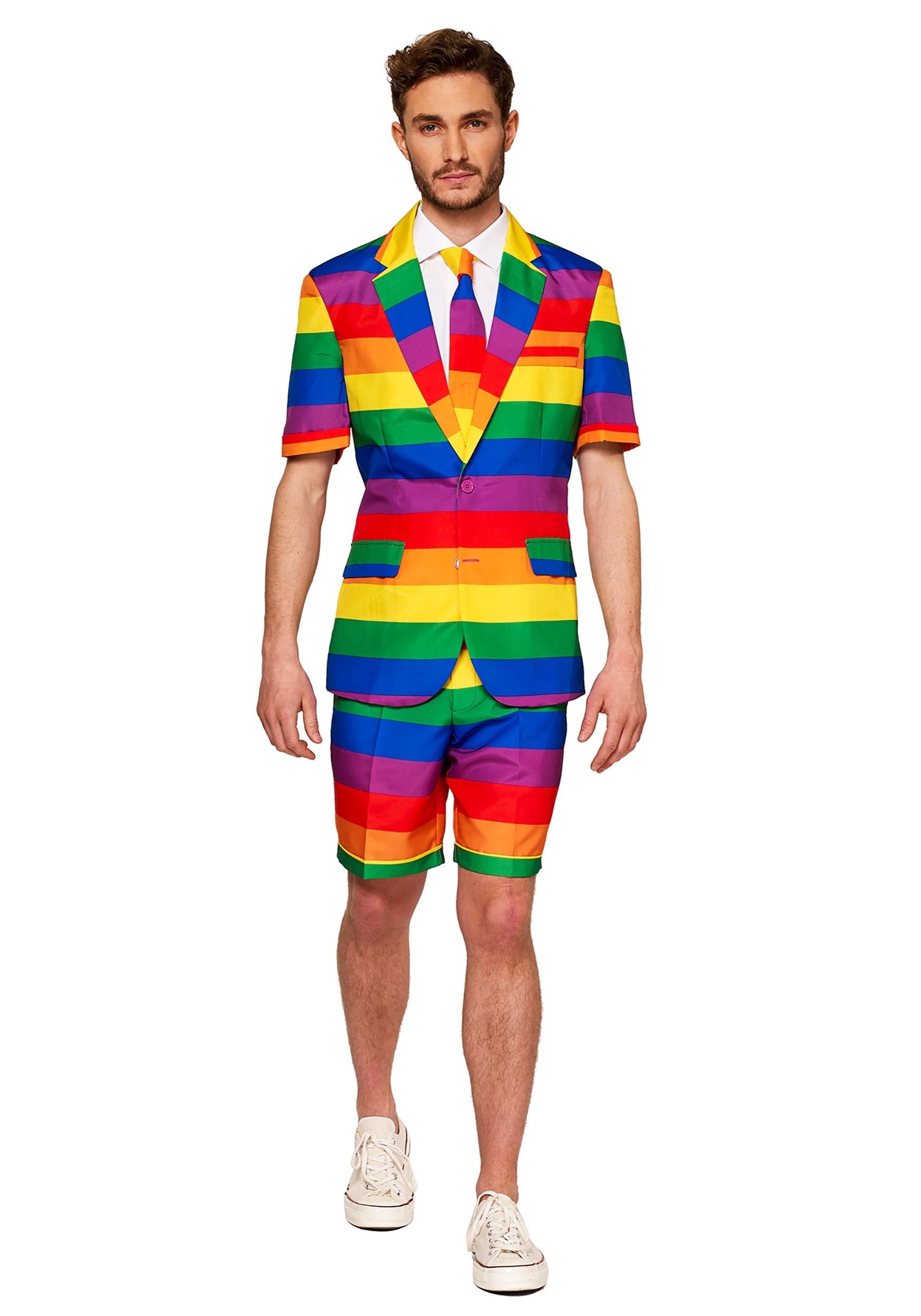 Suitmeister Rainbow Mens Summer Suit