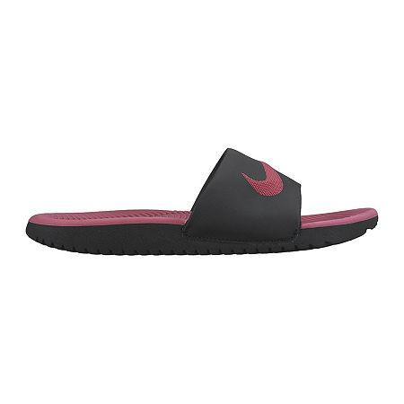 Nike Kawa Slide Girls Sandals - Little Kids/Big Kids, 13 Medium, Black