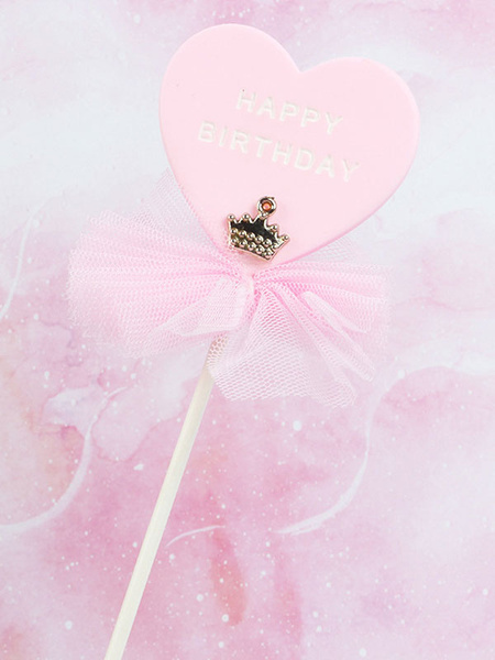 Milanoo Cake Toppers Crown Sweetheart Bows Baby Kids Happy Birthday Party Decorations Halloween