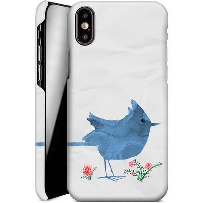Apple iPhone XS Smartphone Huelle - Watercolour Bird White von caseable Designs