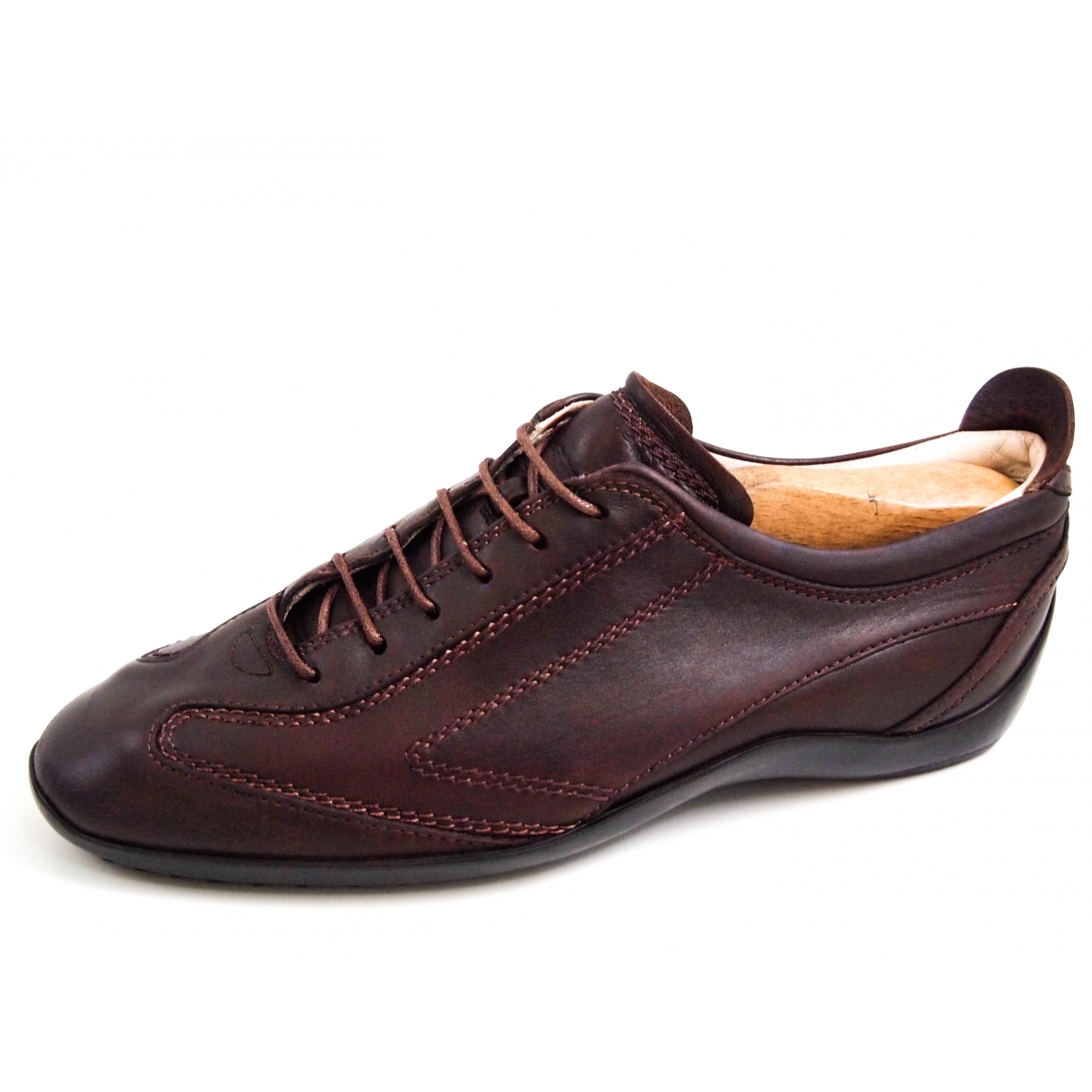 Tod's \N Brown Leather Trainers for Men 40.5 EU