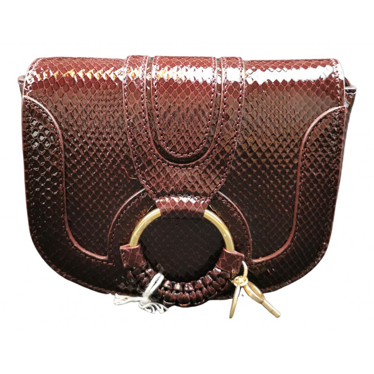 See By Chloe \N Handtasche in  Bordeauxrot Leder