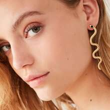 1pair Snake Shaped Earrings