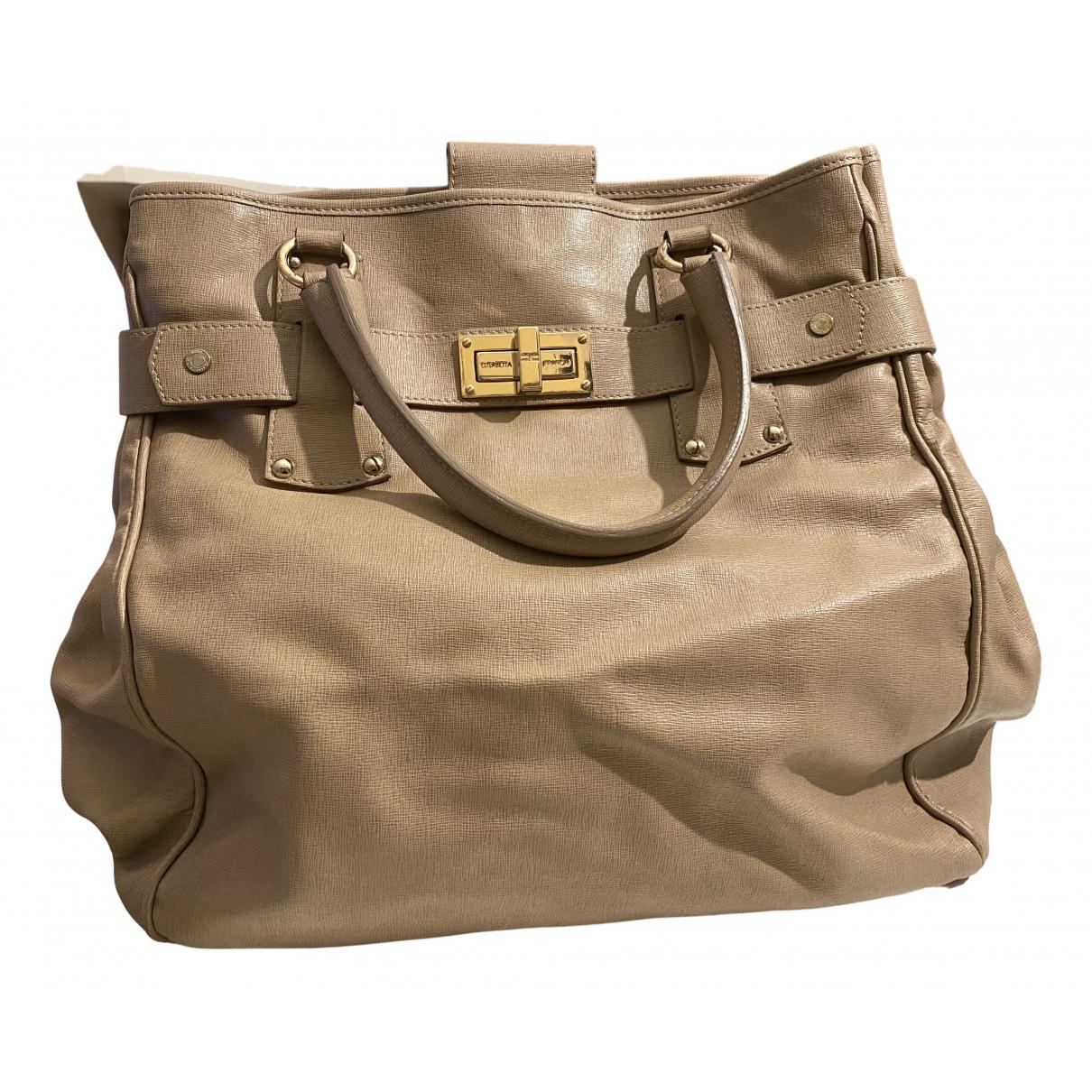 Elisabetta Franchi N Beige handbag for Women N