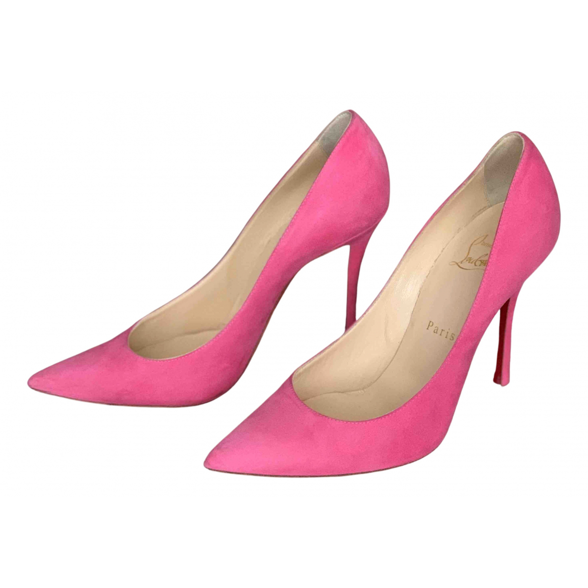 Christian Louboutin Pigalle Pumps in  Rosa Veloursleder