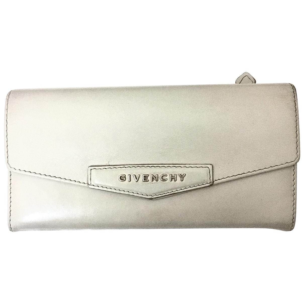 Givenchy \N Portemonnaie in  Grau Leder