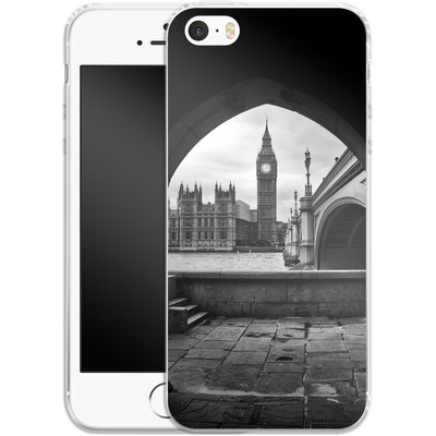 Apple iPhone 5 Silikon Handyhuelle - Houses Of Parliament von Ronya Galka