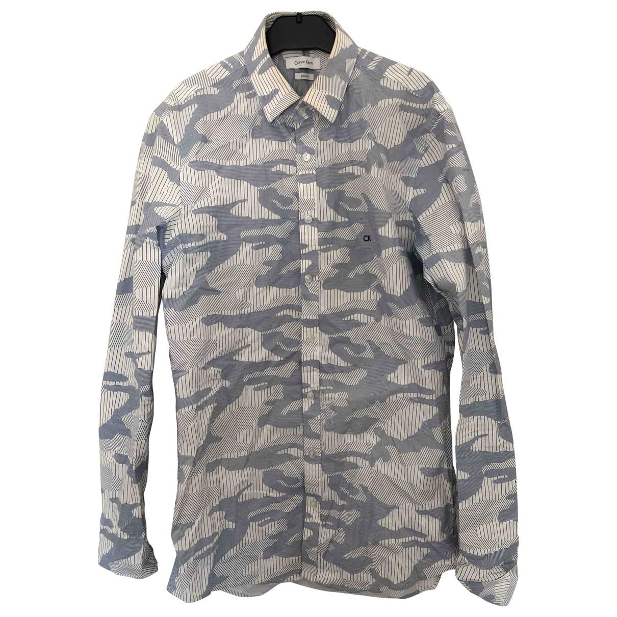 Calvin Klein \N Blue Cotton Shirts for Men M International