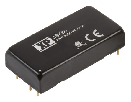 XP Power JSK50 50W Isolated DC-DC Converter Through Hole, Voltage in 9 → 18 V dc, Voltage out 5V dc