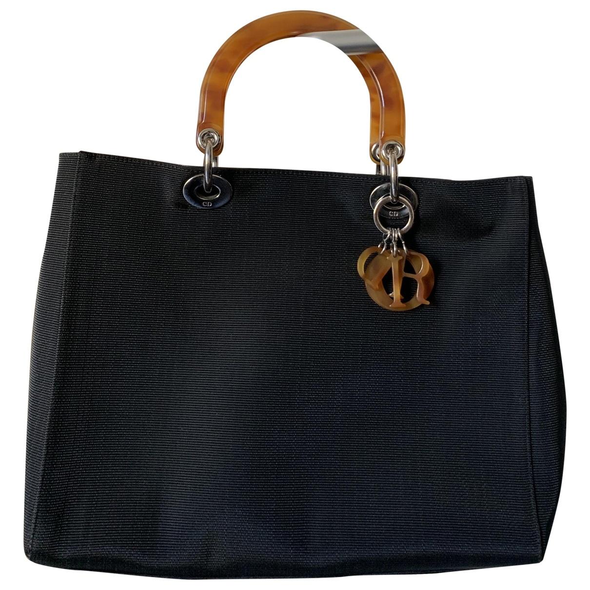Dior Lady Dior Black Cloth handbag for Women \N