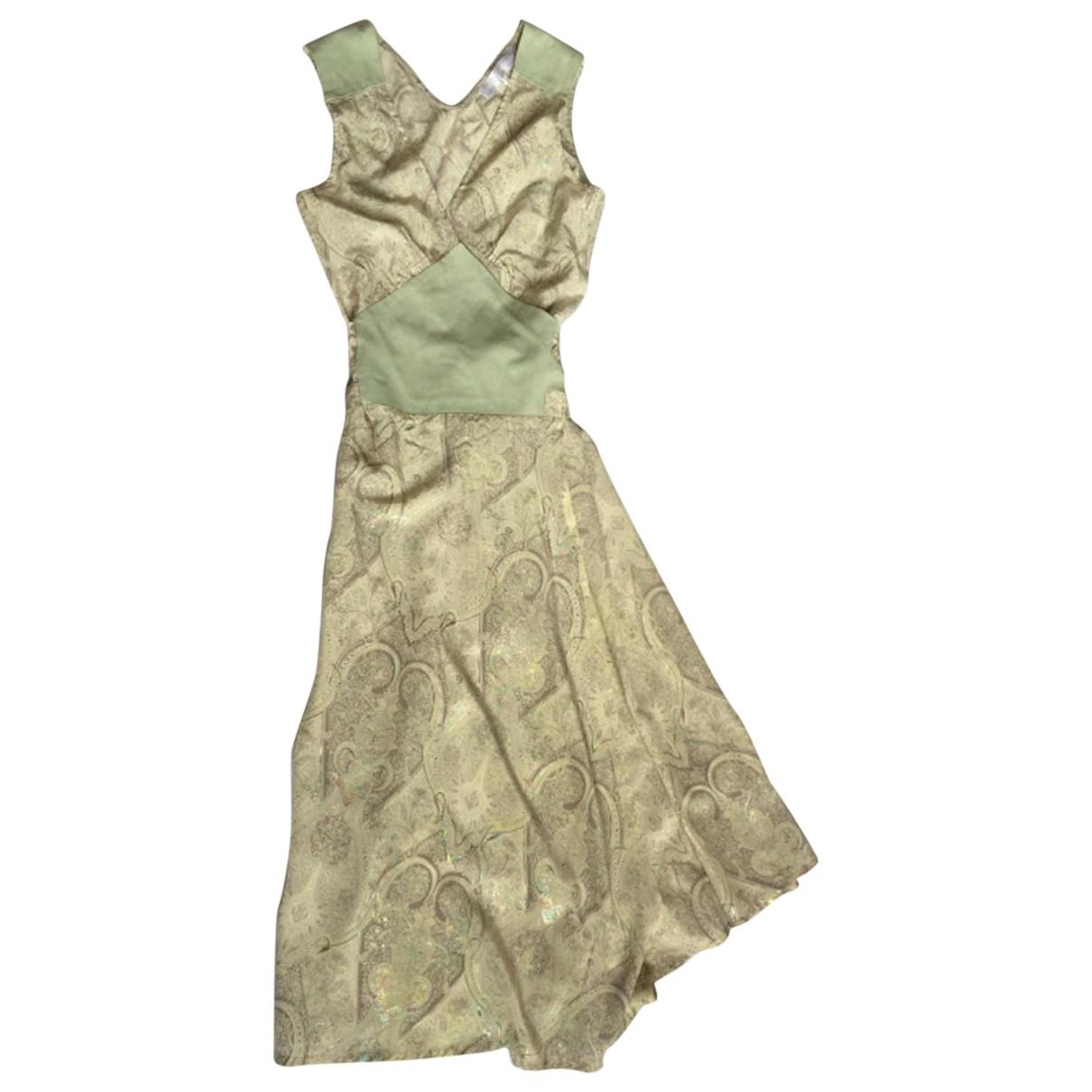 Véronique Branquinho \N Silver Silk dress for Women 38 FR