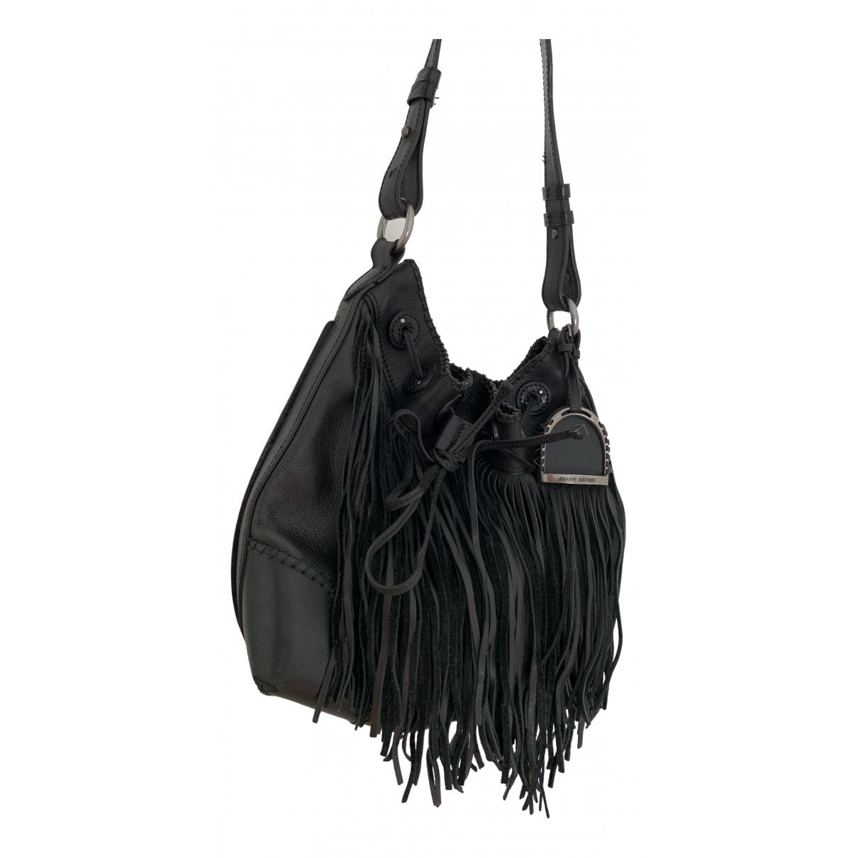 Ralph Lauren - Sac a main   pour femme en cuir - noir