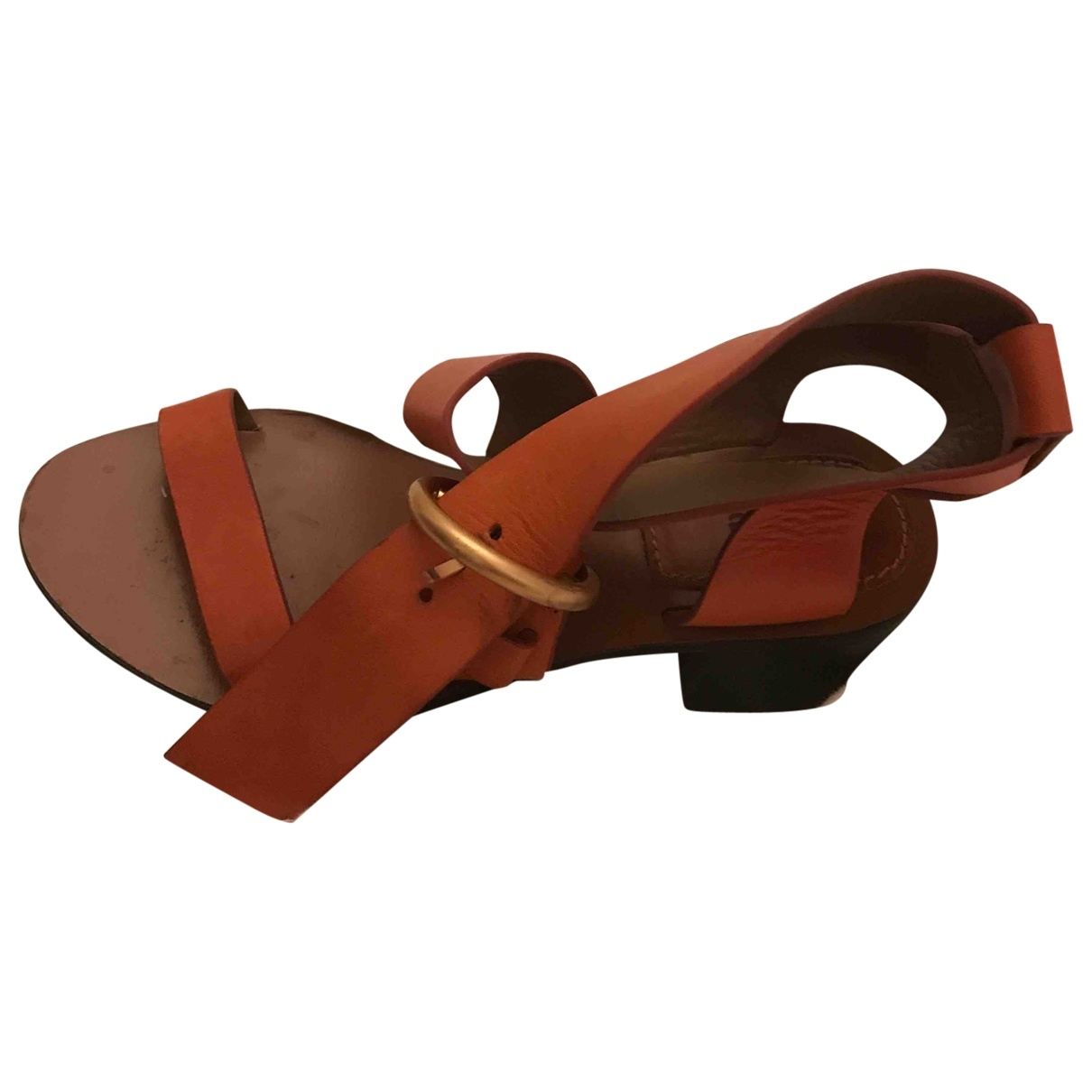 Chloé \N Orange Leather Sandals for Women 36 EU
