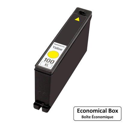 Lexmark 100XL 14N1071 14N1056 cartouche d'encre compatible jaune haute capacité - boîte économique