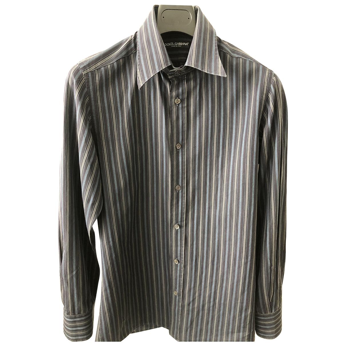 Dolce & Gabbana \N Hemden in  Marine Baumwolle
