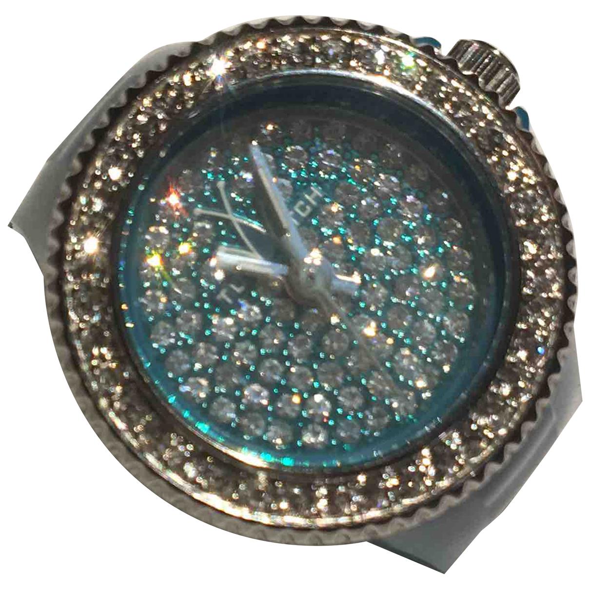 Non Signe / Unsigned \N Ring in  Gruen Kunststoff