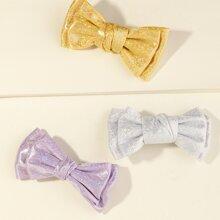 3pcs Toddler Girls Bow Hair Clip