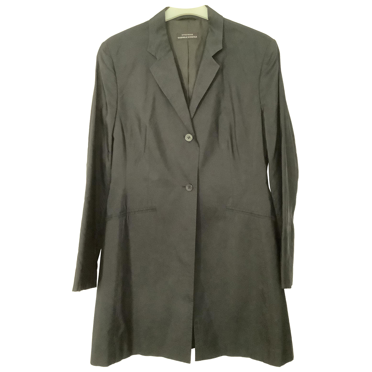 - Manteau   pour femme en soie - noir