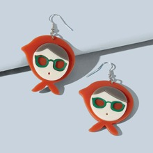 Cartoon Figure Drop Earrings