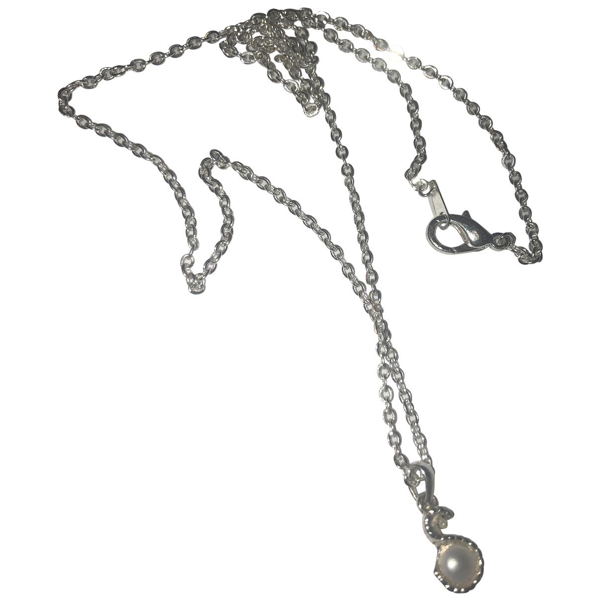 Non Signe / Unsigned Nacre Kette in  Silber Perle
