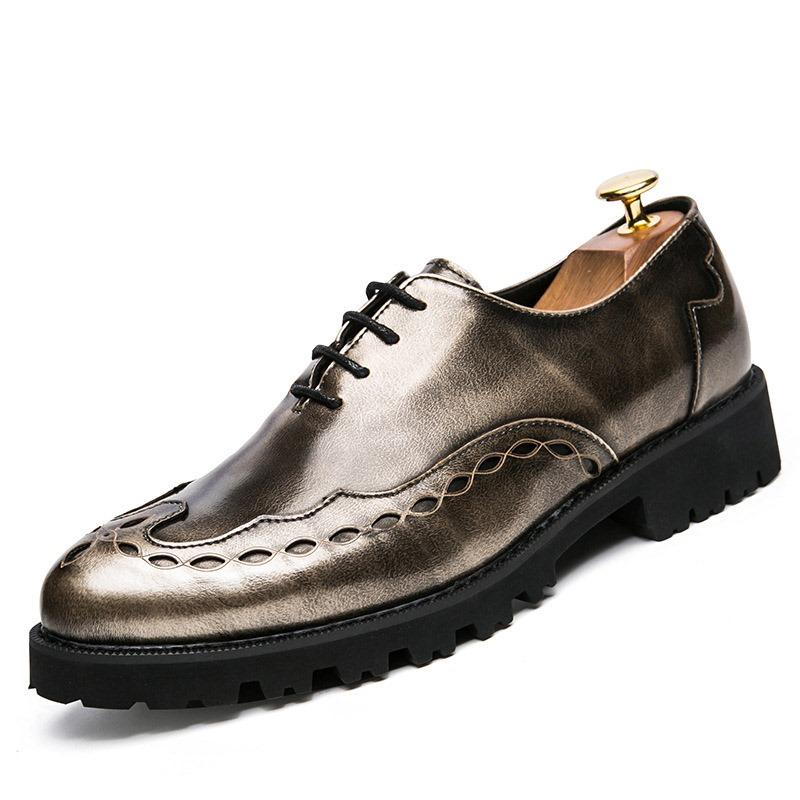 Ericdress Plain Lace-Up Round Toe Men's Shoes