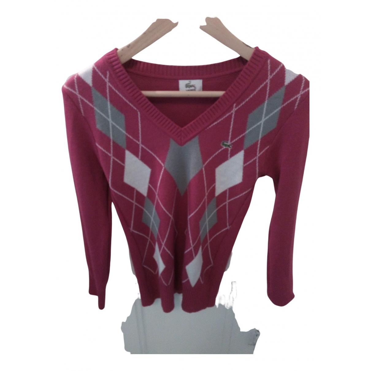 Lacoste N Pink Cotton Knitwear for Women 38 FR