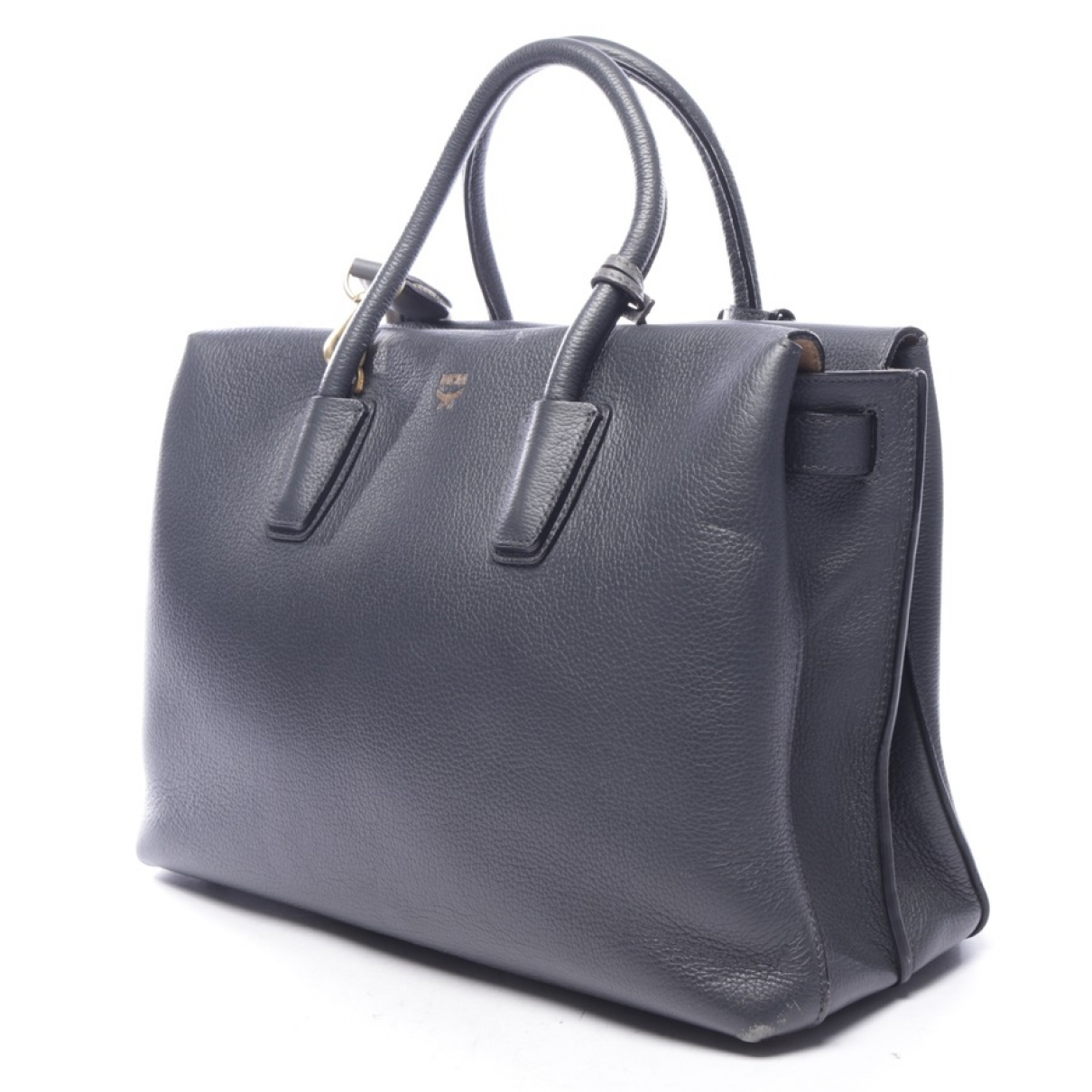 Mcm \N Blue Leather handbag for Women \N