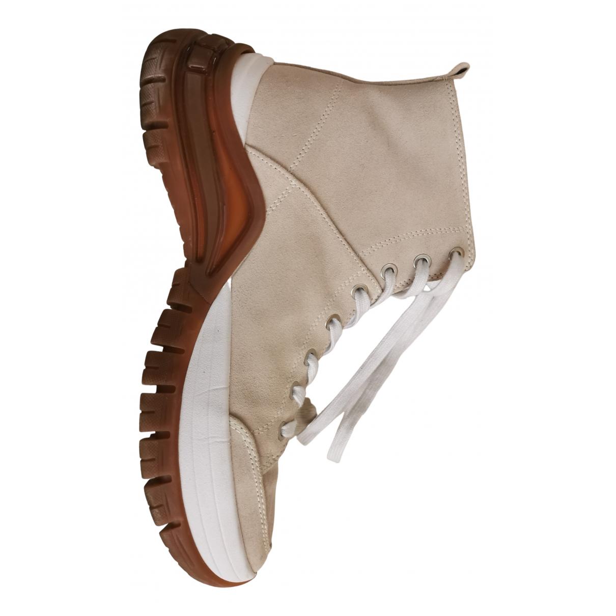 Calvin Klein - Boots   pour femme en suede - beige