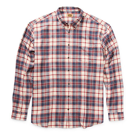 The Foundry Big & Tall Supply Co. Big and Tall Mens Long Sleeve Flannel Shirt, 2x-large , White