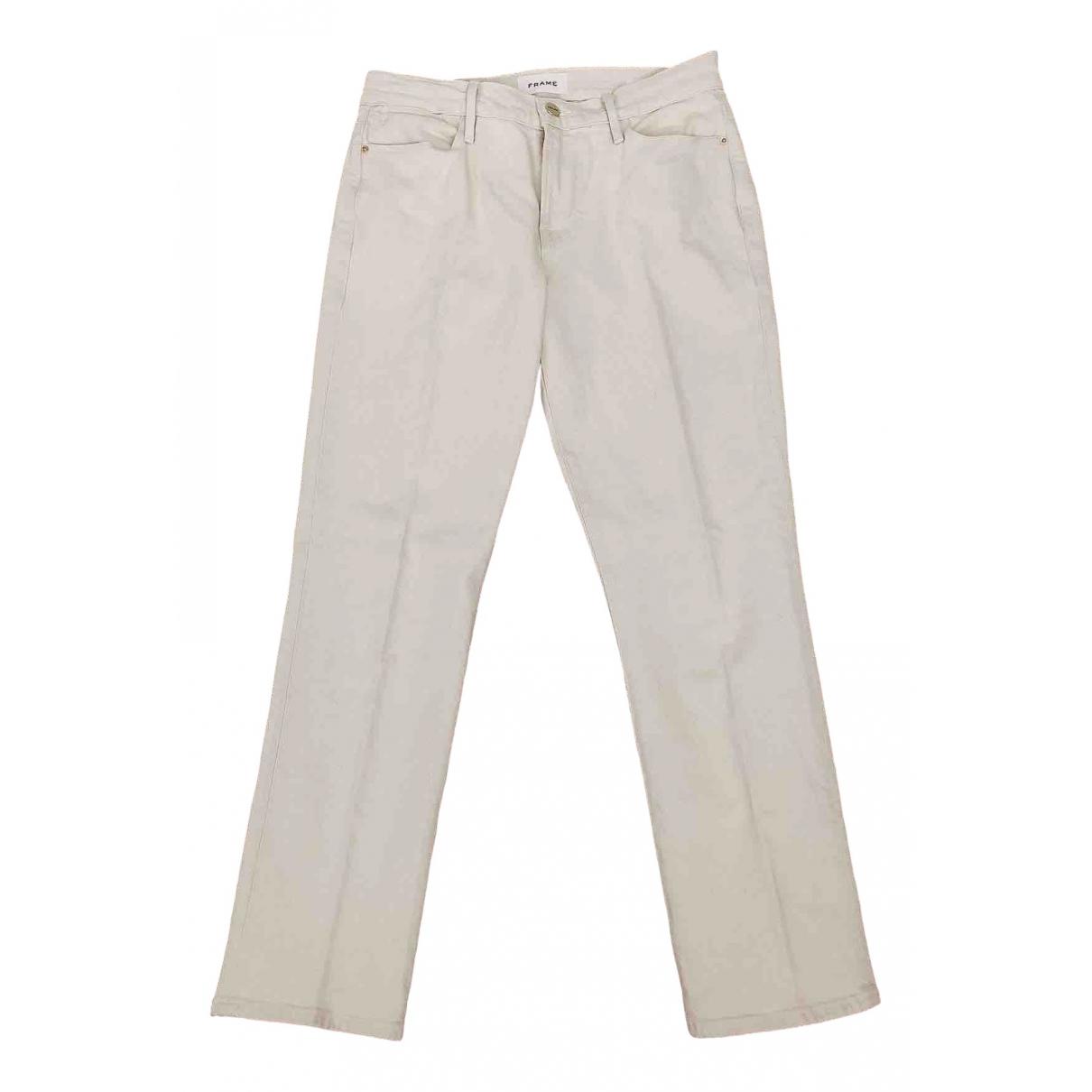 Frame Denim \N Ecru Cotton Jeans for Women 27 US