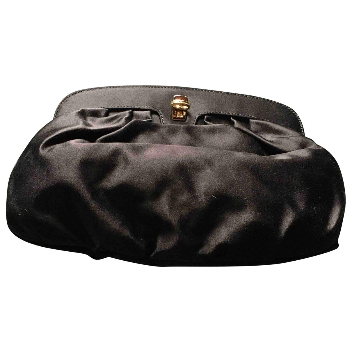 Dolce & Gabbana \N Clutch in  Schwarz Leinen