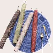 Mantel individual redondo tejido 1 pieza