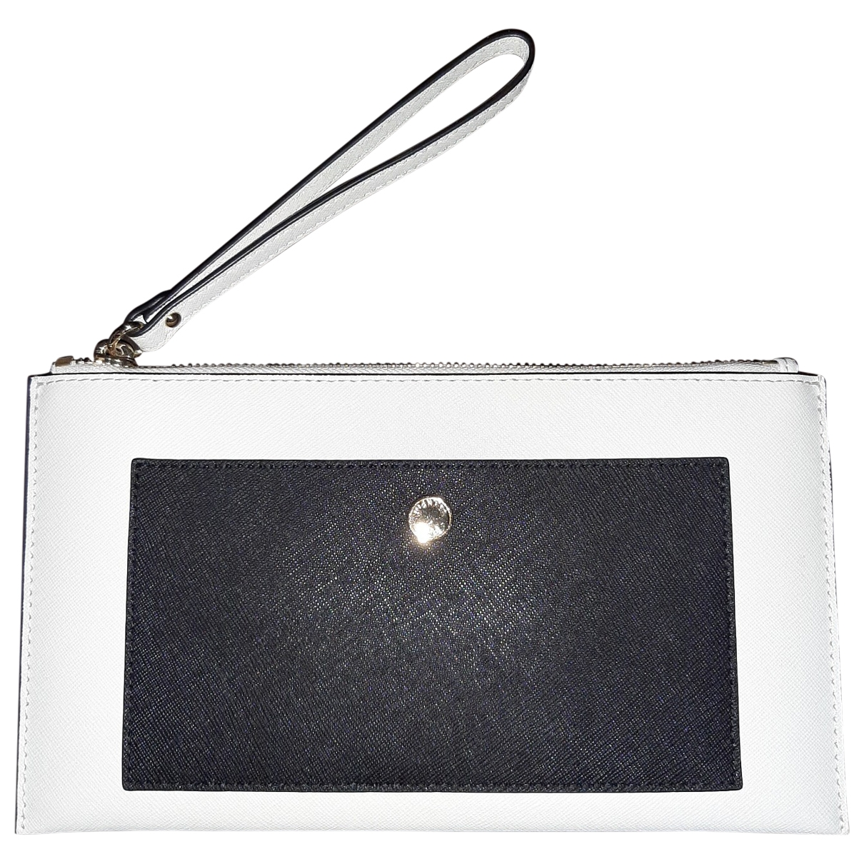 Michael Kors - Pochette   pour femme en cuir - blanc