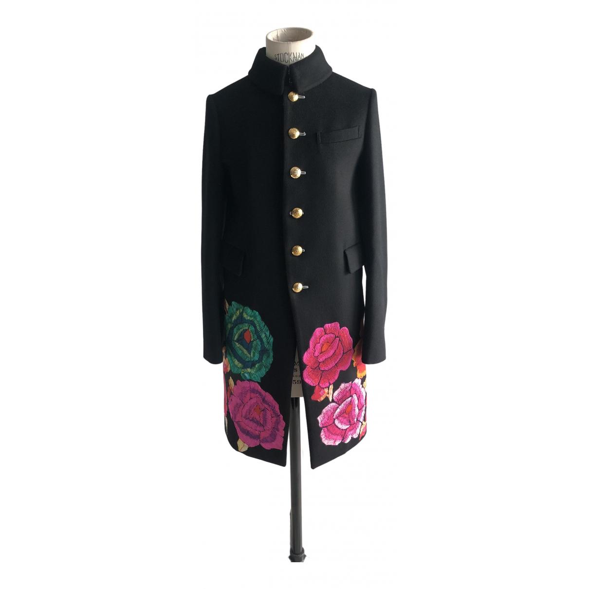 Roberto Cavalli - Manteau   pour femme en laine - noir