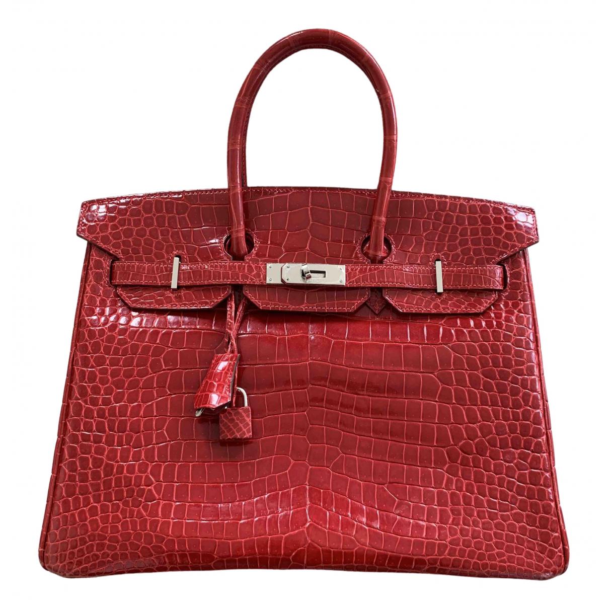 Hermès Birkin 35 Red Crocodile handbag for Women \N