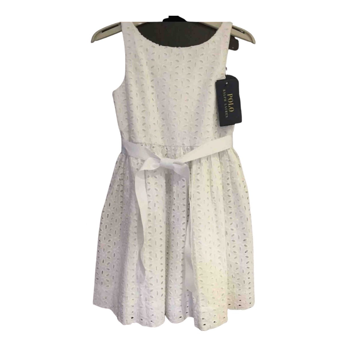 Polo Ralph Lauren \N Kleid in  Ecru Baumwolle