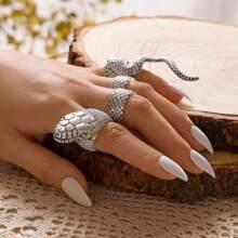4 Stuecke Serpentine Design Ring
