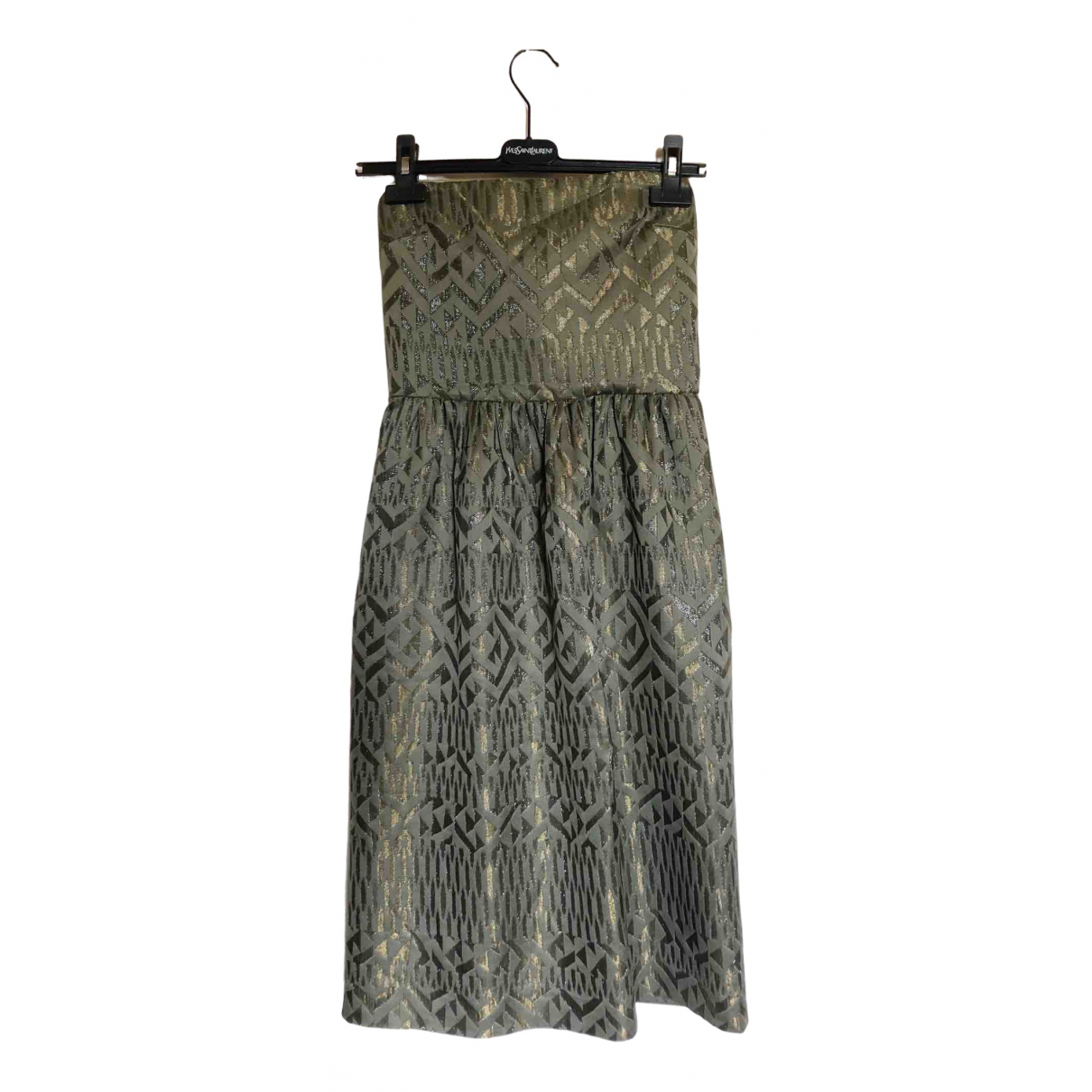 Etro \N Kleid in  Khaki Seide