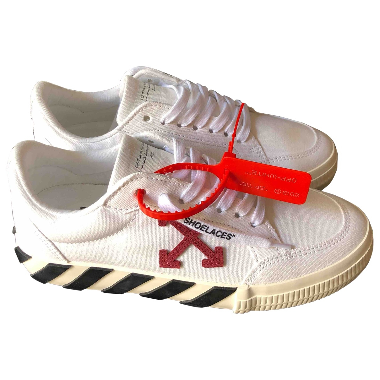 Off-white - Baskets Low Top pour femme en suede - blanc