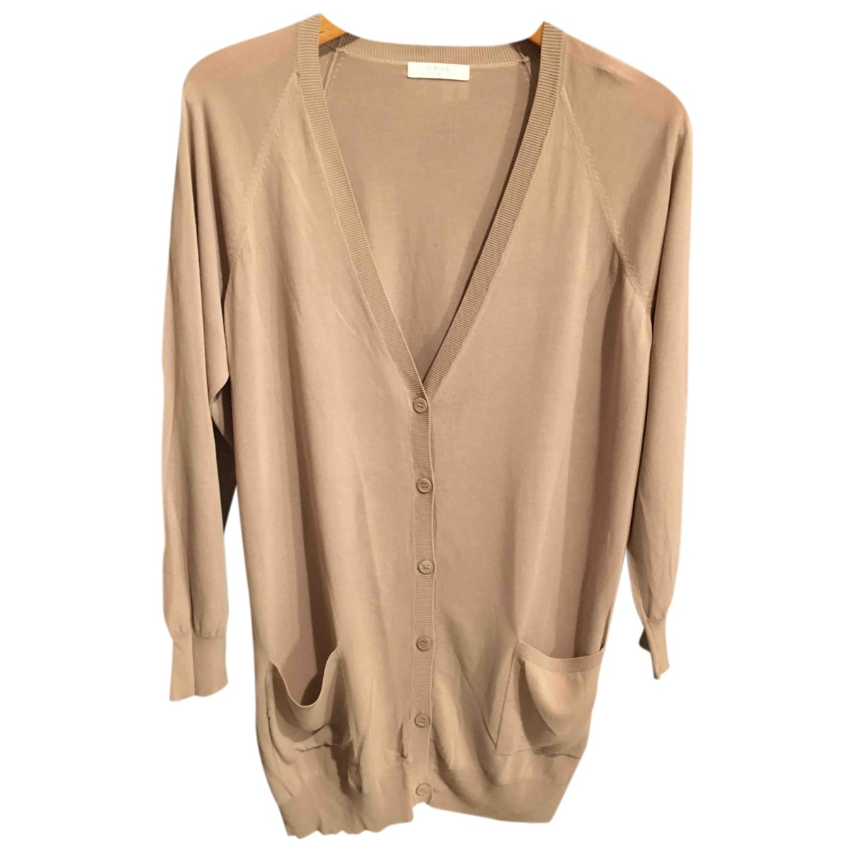 Non Signé / Unsigned Oversize Beige Knitwear for Women One Size International
