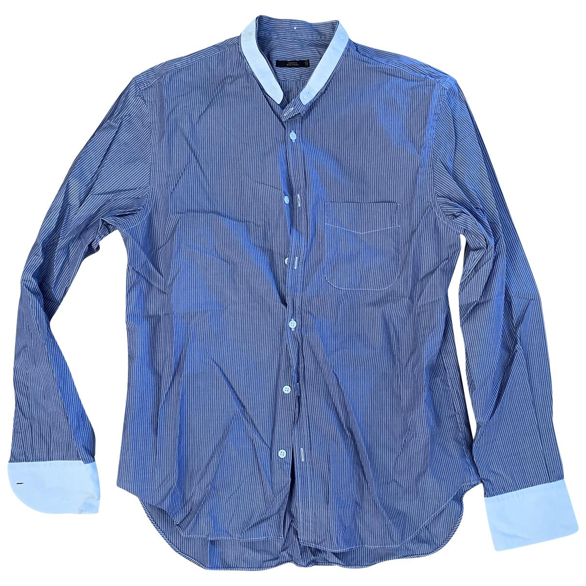 Mauro Grifoni \N Blue Cotton Shirts for Men 40 EU (tour de cou / collar)