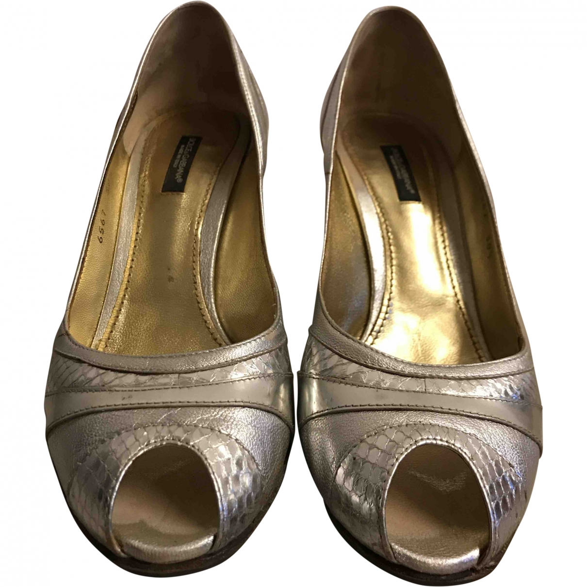 Dolce & Gabbana \N Silver Leather Heels for Women 38.5 EU