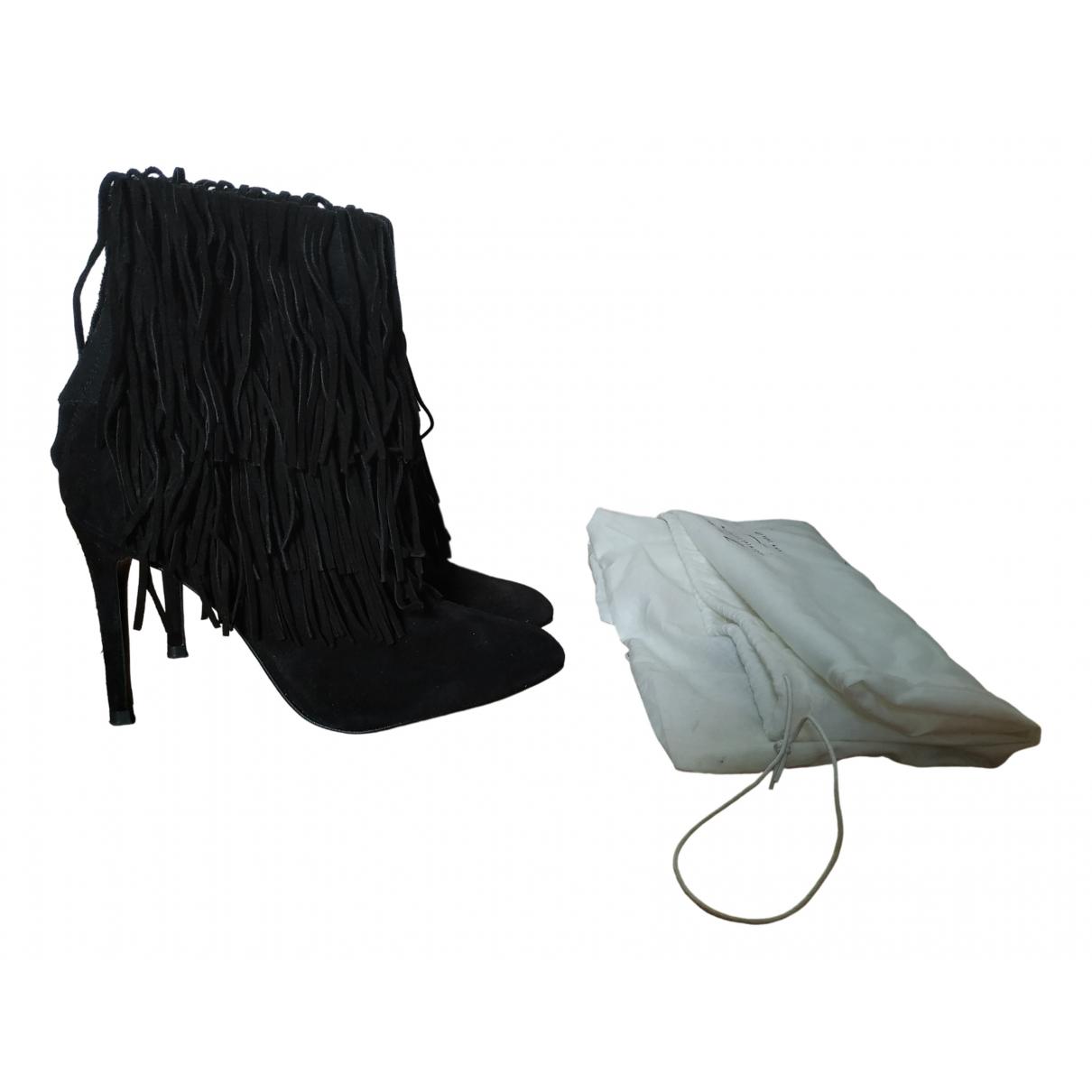 Zara N Black Suede Ankle boots for Women 38 EU