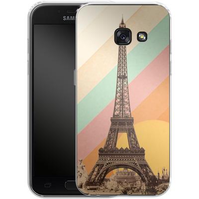 Samsung Galaxy A3 (2017) Silikon Handyhuelle - Eiffel Tower Rainbow von Florent Bodart