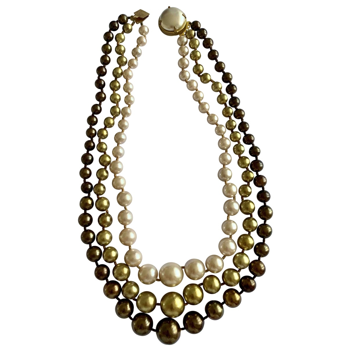Non Signé / Unsigned Motifs Ethniques Gold Pearls necklace for Women \N