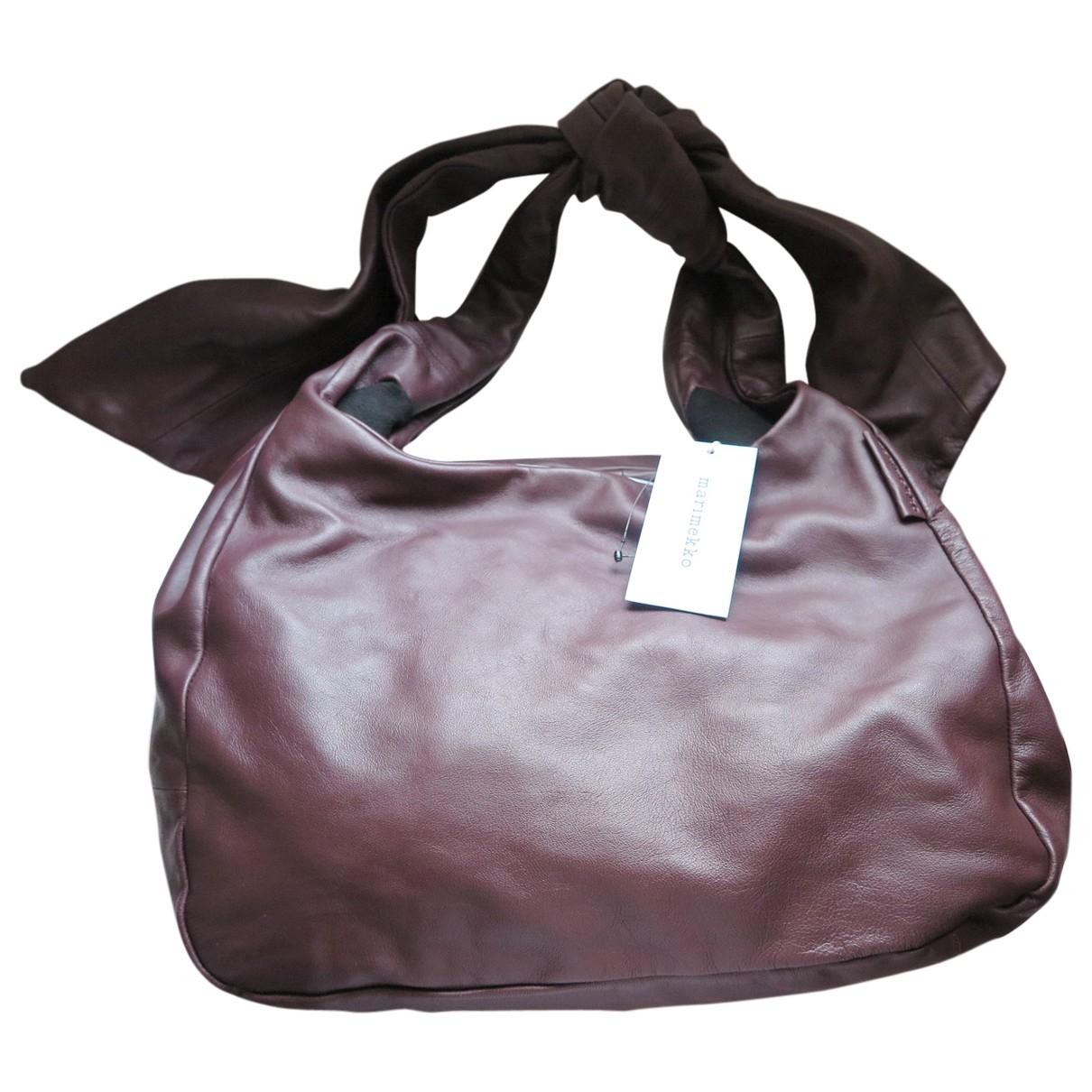 Marimekko \N Handtasche in  Braun Leder